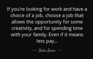 Dalai Lama Quotes about Work