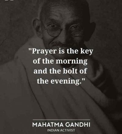 Good Morning Quote By Mahatma Gandhi