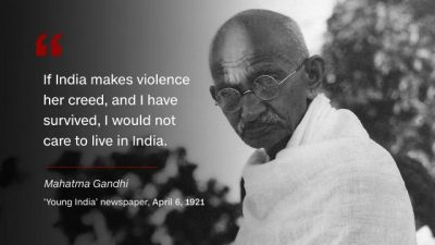 Quotes On Violence By Gandhi Ji