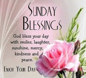 Sunday Blessing Picture Quotes