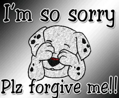 Cute Pictures On Being Sorry