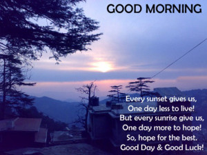 Good Day and Good Luck Quotes Wallpapers Images