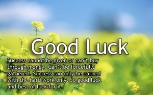 good luck quotes sayings