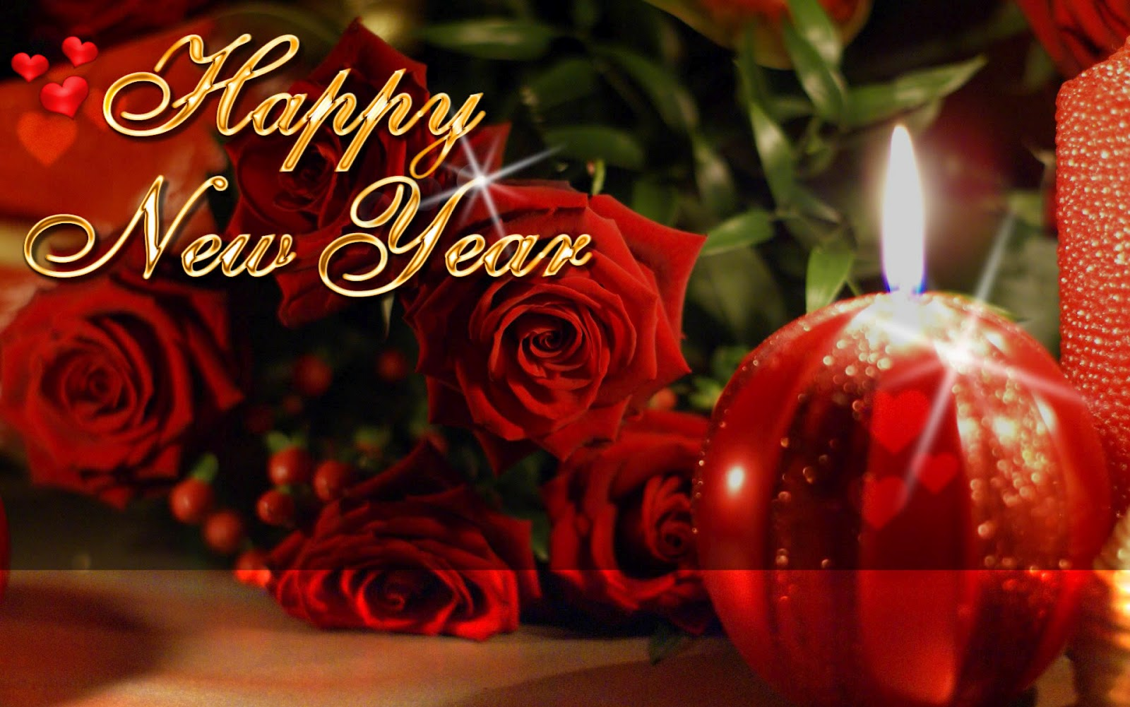 happy new year flowers greetings for whatsapp images