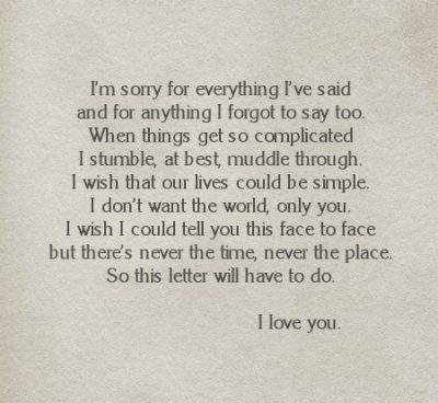 I Love You And I'm Sorry Quotes