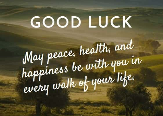 101 Best Good Luck Quotes, Messages, Wishes , Images & Greetings