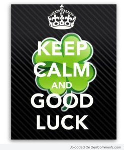 Keep Calm Good Luck Quotes IMages