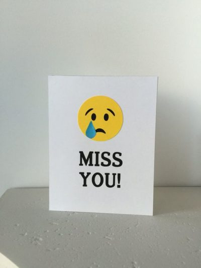 Miss You Goodbye Cards