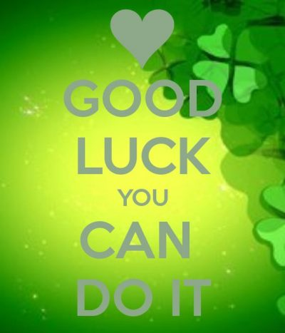 Motivational Good Luck Wishes