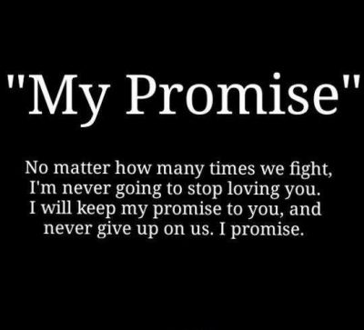 Short Promise For Boyfriend