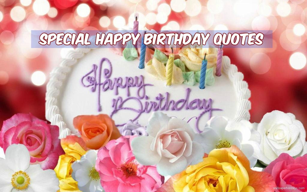 Short lovely birthday quotes images