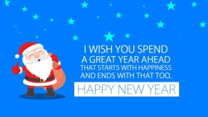 Santa christmas and happy new year greeting messages images
