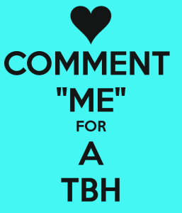 Comment for TBH Images Instagram
