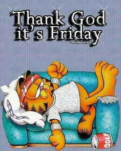Garfield TGIF Quotes Images Wallpapers