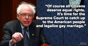 Bernie Sanders Quotes about Gay, Americans Rights IMages