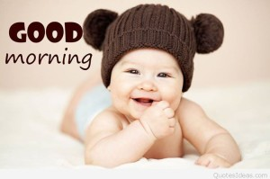 Cute Good Morning Cards with Baby Images