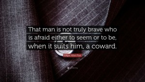 Edgar Allan Poe Coward Quote IMages