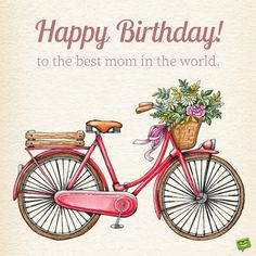 Great Birthday Messages for Mom Images