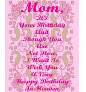 Happy Birthday Mom in Heaven Images Facebook