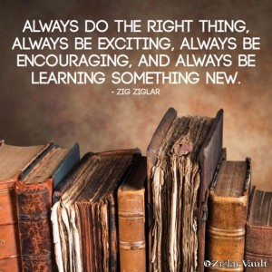 Inspiring Zig Ziglar Quotes on Learning IMages