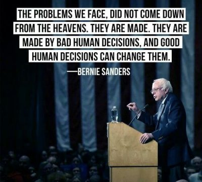 Quotes About Humans By Bernie Sanders