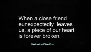 Quotes about Death of a friend