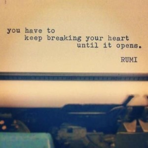 Short rumi quotes heart break images