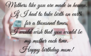 Sweet Happy Birthday Quotes for Mom Images