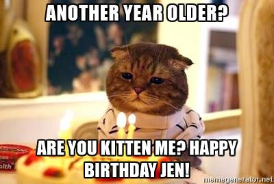 Cute happy birthday meme cat