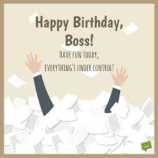 Funny Birthday WIshes and Cards for Boss