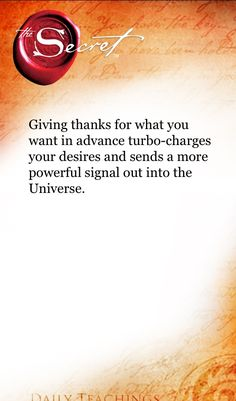 Quotes from the Secret About Gratitude