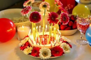 Happy Birthday Cake Images with Flowers