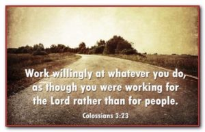 Inspirational Bible Verses about Work