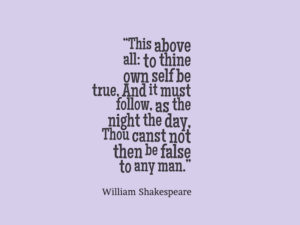 This Above All Shakespeare Quote