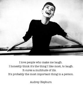 Audrey Hepburn Quote about Laughing