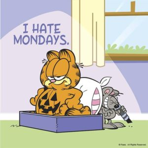 Best Garfield I hate mondays Pics