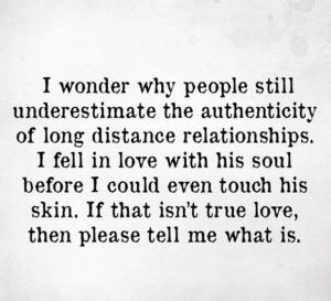 Being in a long distance relationship Quotes