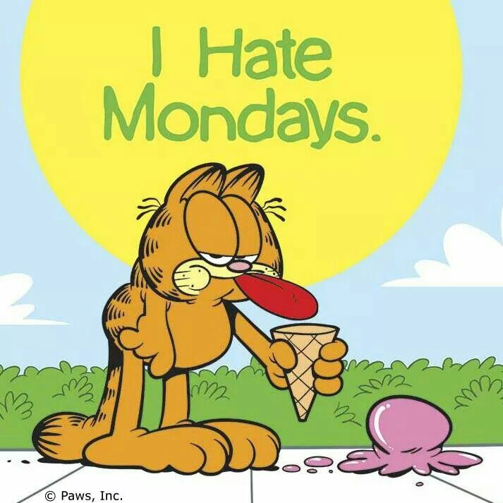50+ Garfield I Hate Mondays | Quotes, Images, Pics