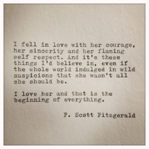 QUotes about Unrequited Love in the great gatsby