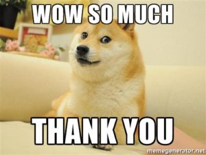 thank you doge meme