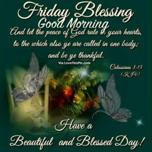 Friday Good Morning Blessing and Wishes