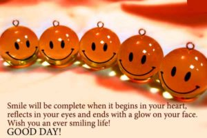 Smile and Good Morning Cards and Wishes