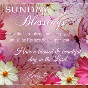Sunday Morning Blessing Quotes