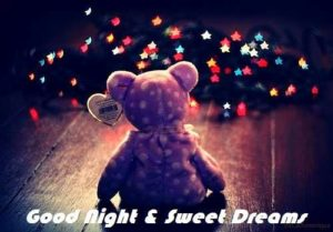 Cute Good night sms with Images