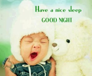 Good Night Cute Baby Image