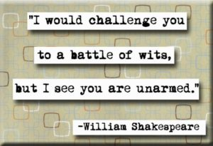 Witty QUotes by Shakespeare