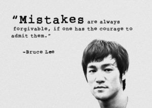 Best Bruce Lee Quotes Images about Mistakes