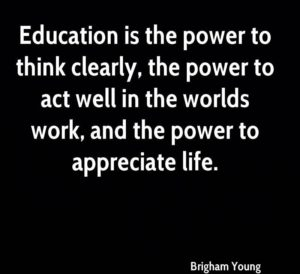 Brigham Young Quotes Education