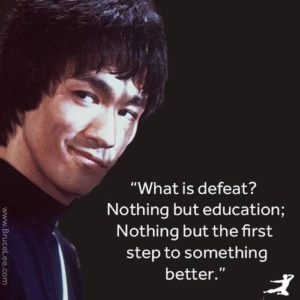 Bruce Lee Picture Quotes about Defeat