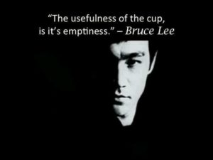 Bruce Lee Quotes Empty Cup